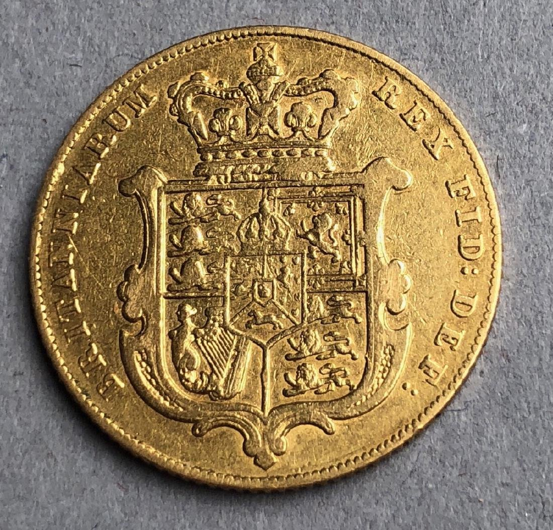 1826 George IV Gold Sovereigns Coin - 2