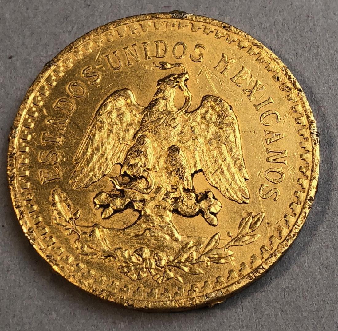 1945 Mexico 50 Pesos Gold Coin. - 2