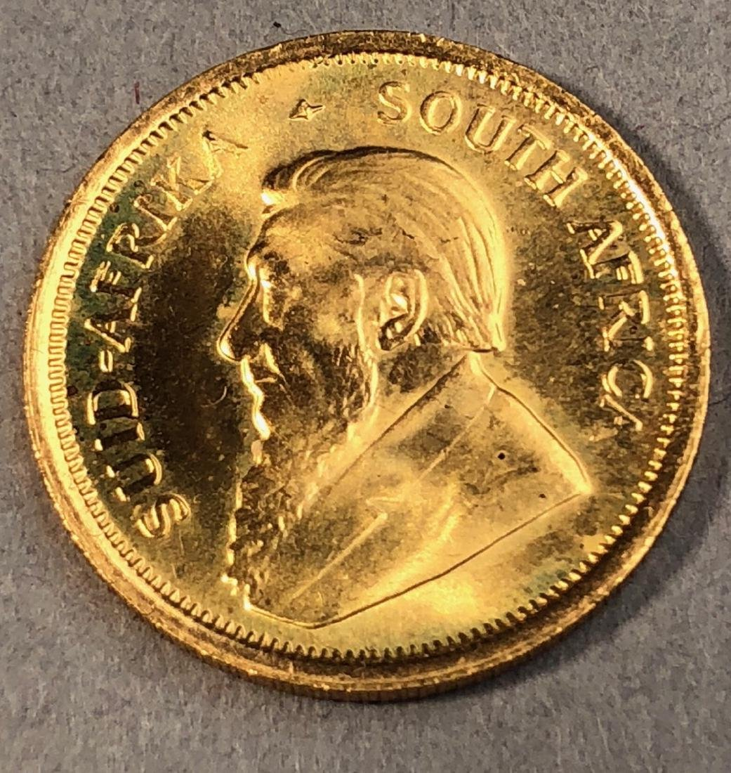 1981 1/10 Krugerrand Gold Coin.