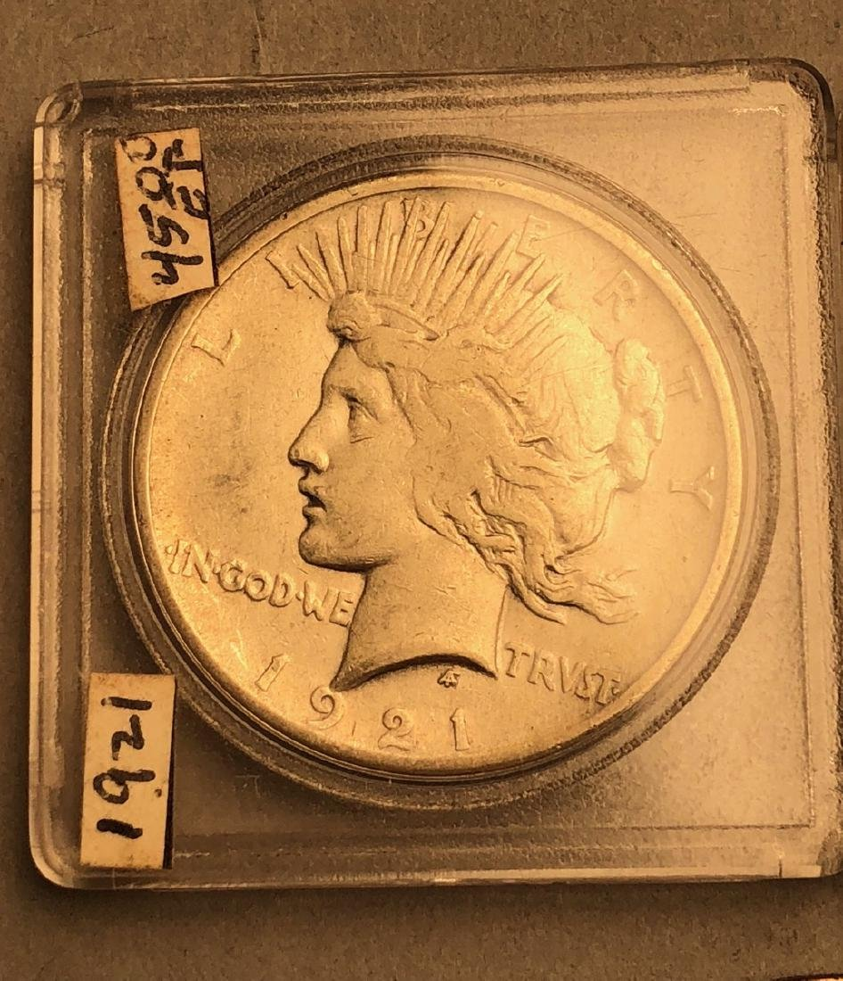 3pcs American Silver Dollars.  1921 Morgan, 1921 - 3