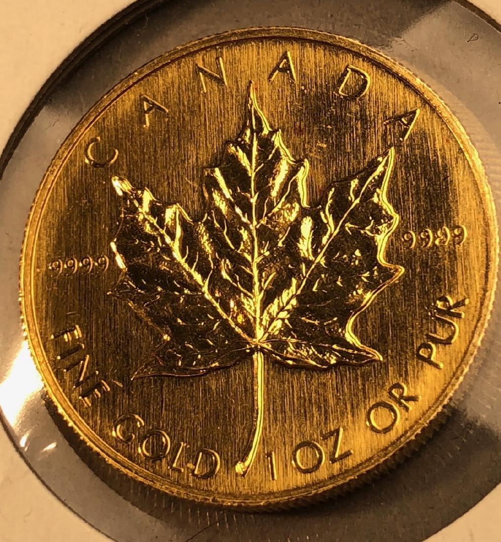 1988 Canada 50 Dollar Gold Coin.  Elizabeth II.