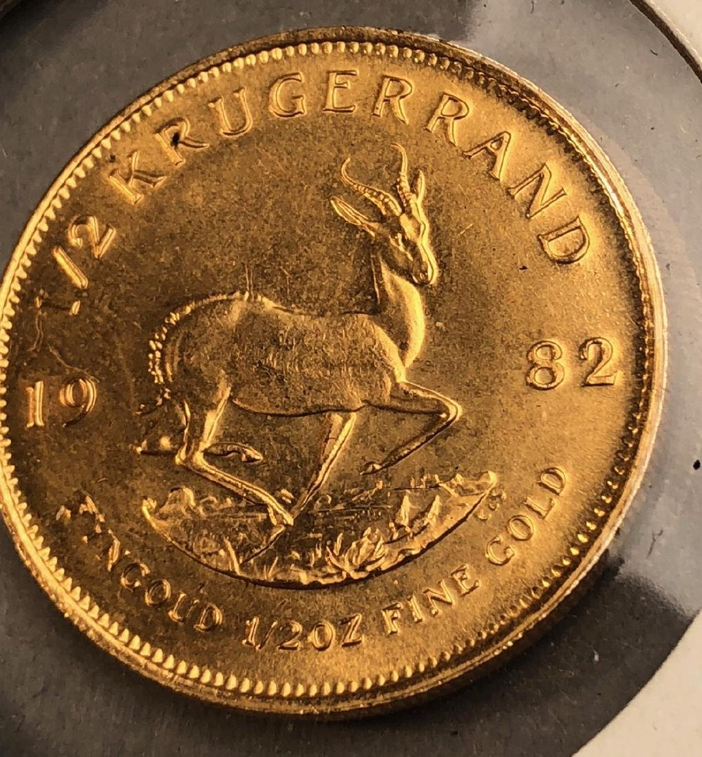 1982 Half Krugerrand Gold Coin. South Africa.