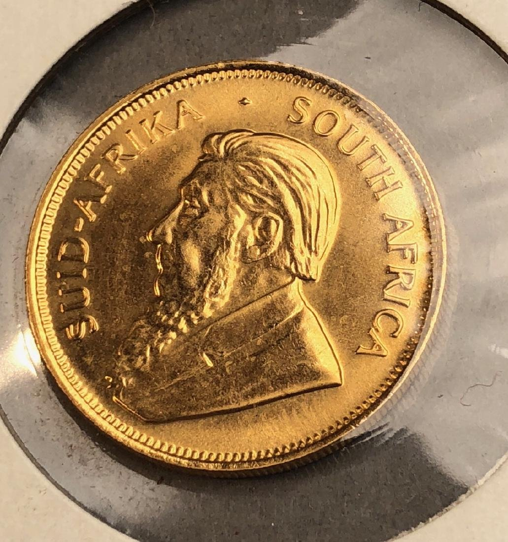 1982 Half Krugerrand Gold Coin. South Africa. - 2