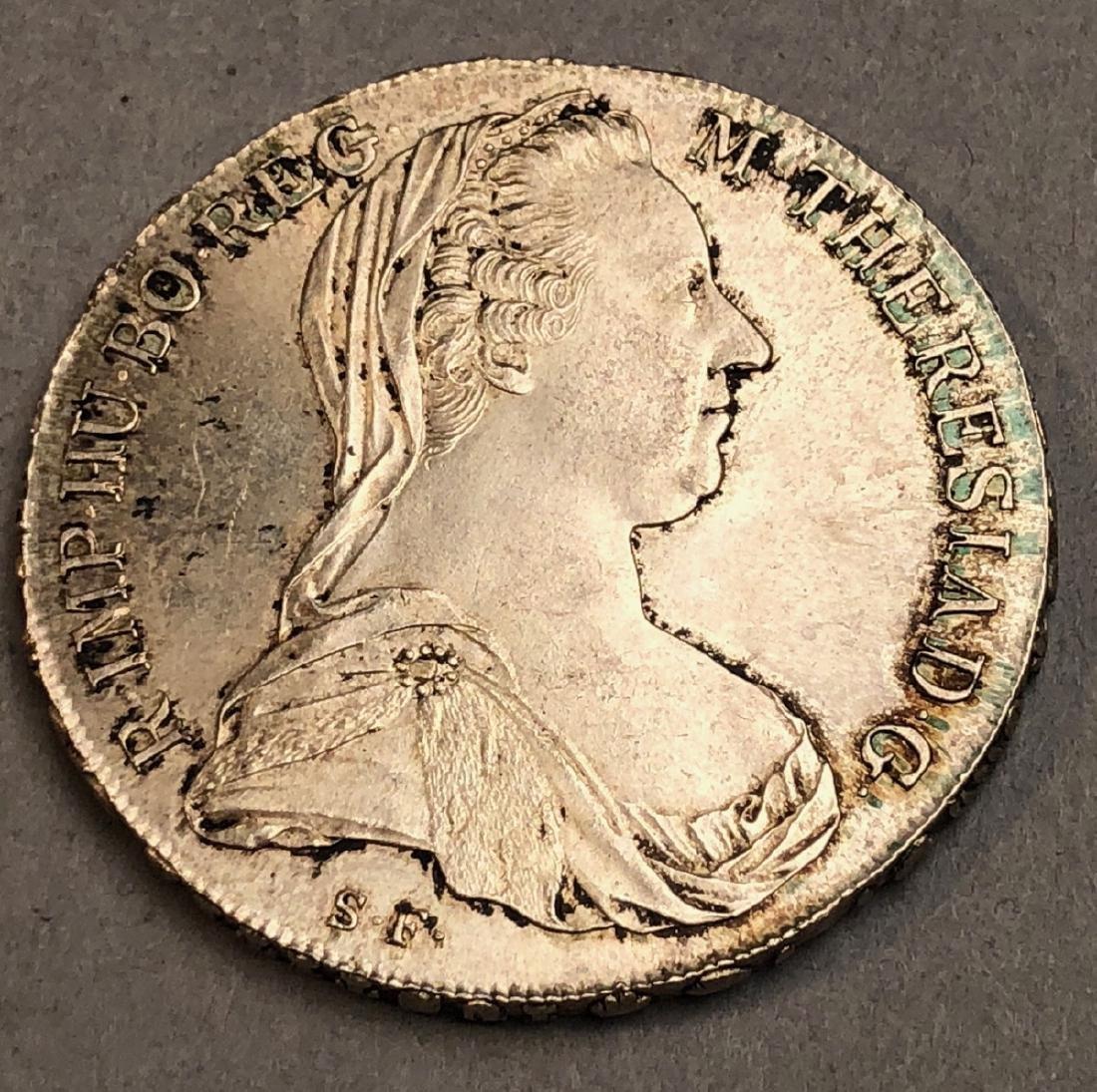 1780 Maria Theresa Silver Trade Coin.
