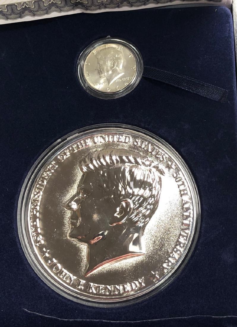 Half Pound Kennedy Commemorative Proof with Certi