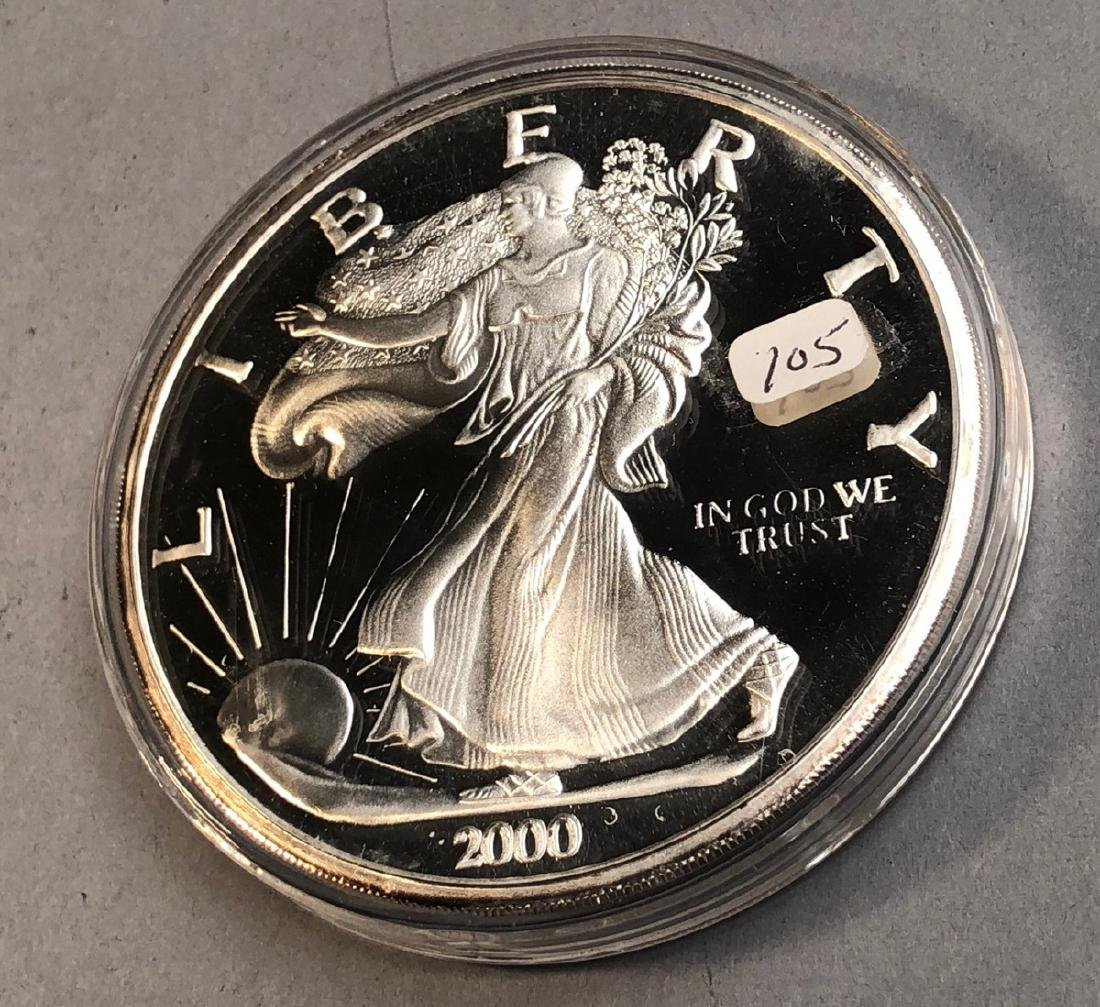 2000 One Pound Walking Liberty. .999 fine.  The D
