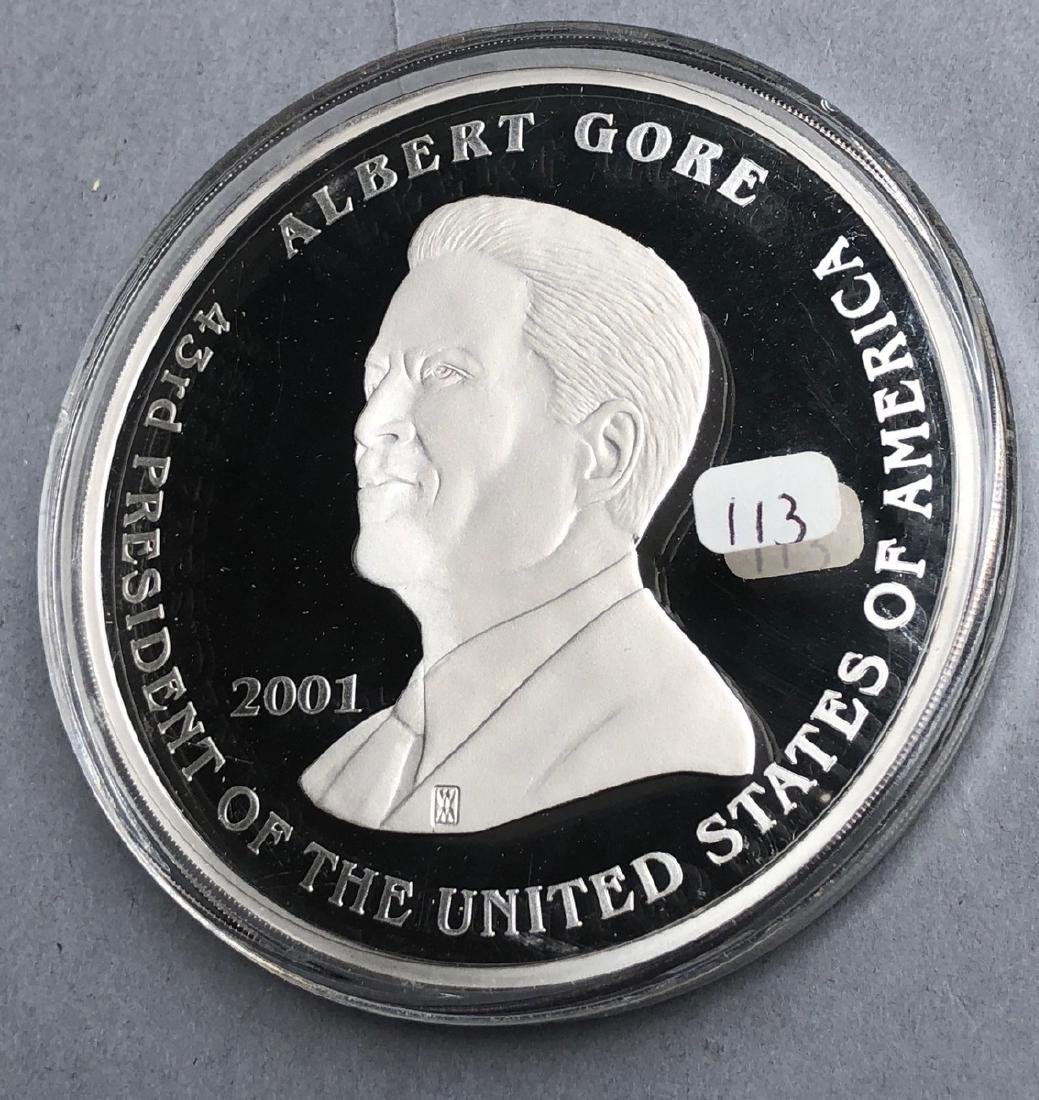 2001 George Bush Albert Gore 9ozt commemorative m