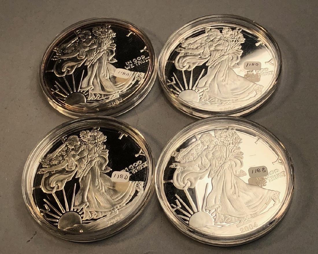 4pcs .999 fine silver 1 ozt Commemorative Medal C