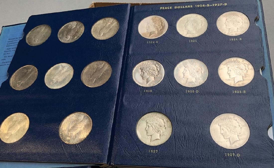 Complete Set of American Peace Silver Dollars.  1