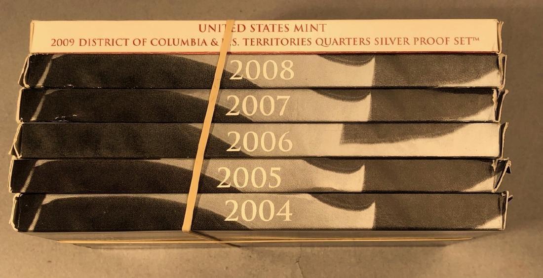 2004-2009 Statehood Silver Quarters PROOF sets