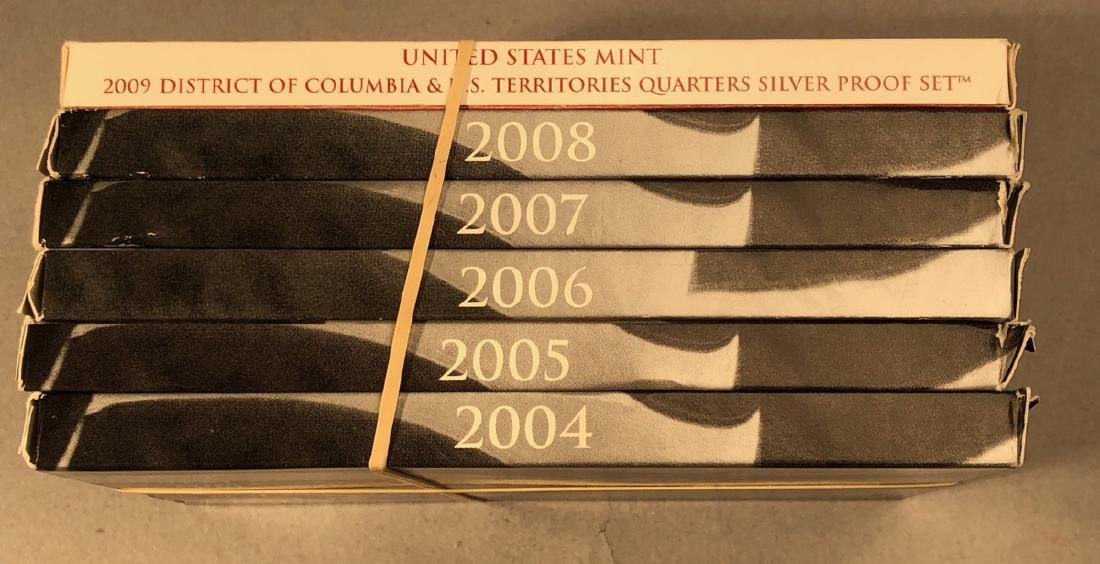 2004-2009 Statehood Silver Quarters PROOF sets