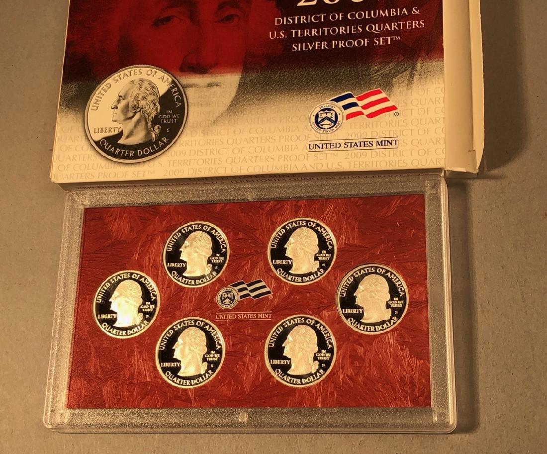 2004-2009 Statehood Silver Quarters PROOF sets - 3