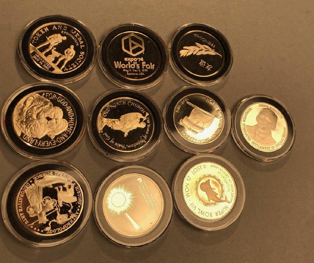 10 Sterling Silver .9 Ounce Coins