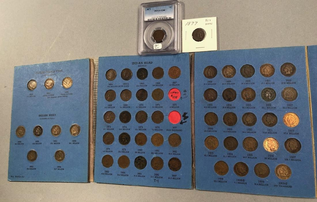 Complete set of Indian Head Cents including 1872
