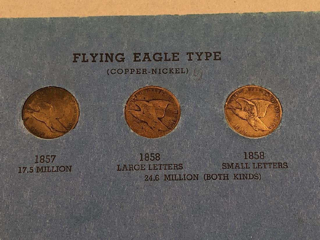 Complete set of Indian Head Cents including 1872 - 7