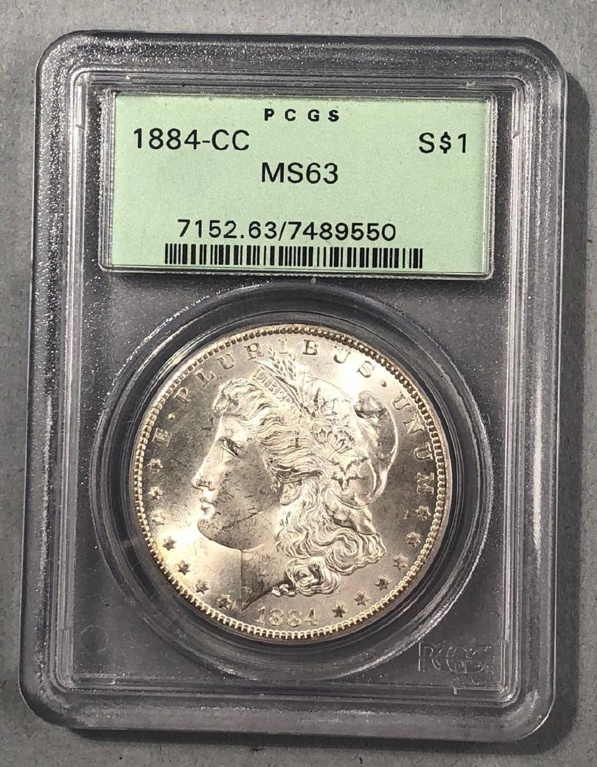 1884 - CC PCGS MS63 Morgan Dollar