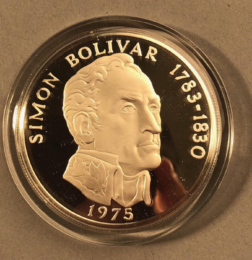 1975 Rep of Panama 20 Balboa Proof. .925 Sterling