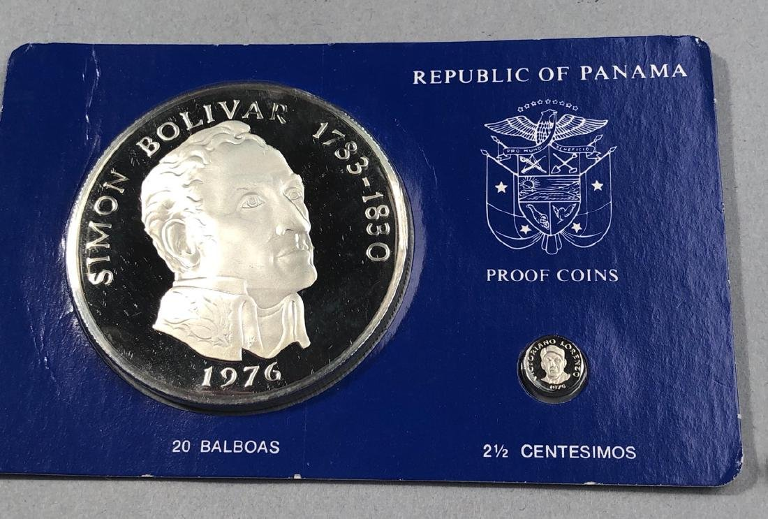 1976 Rep of Panama 20 Balboa Proof. .925 Sterling