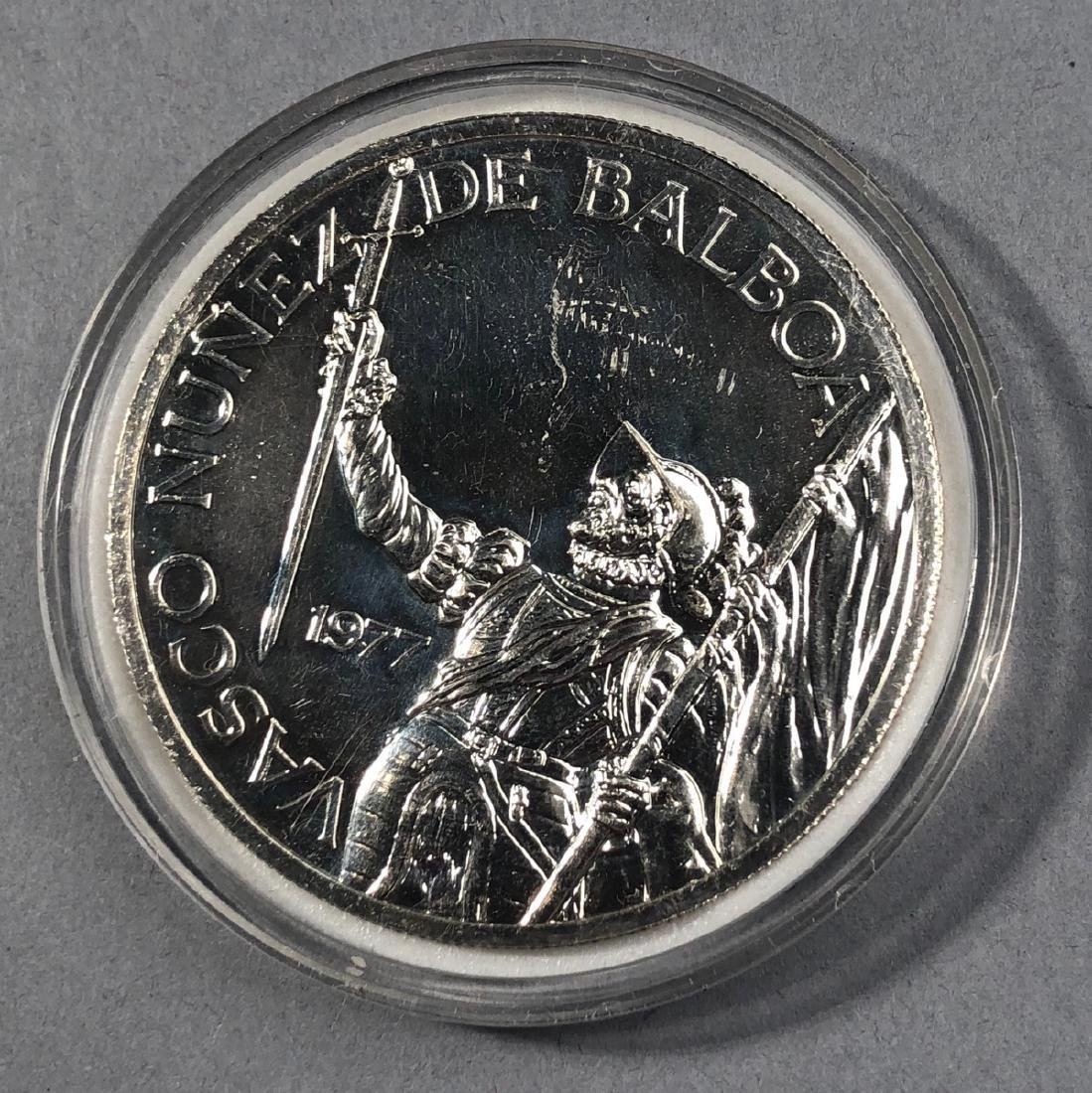 1977 Rep of Panama 20 Balboa Proof. .925 Sterling