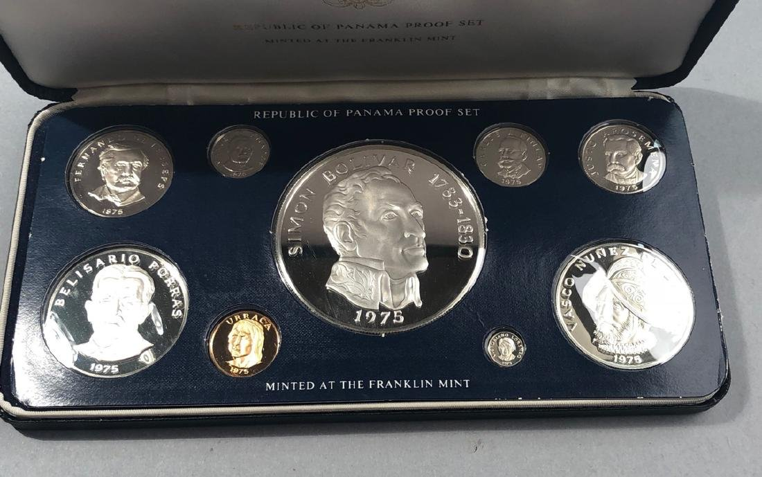 1975 Proof set Rep of Panama Balboa Proof. .925 S