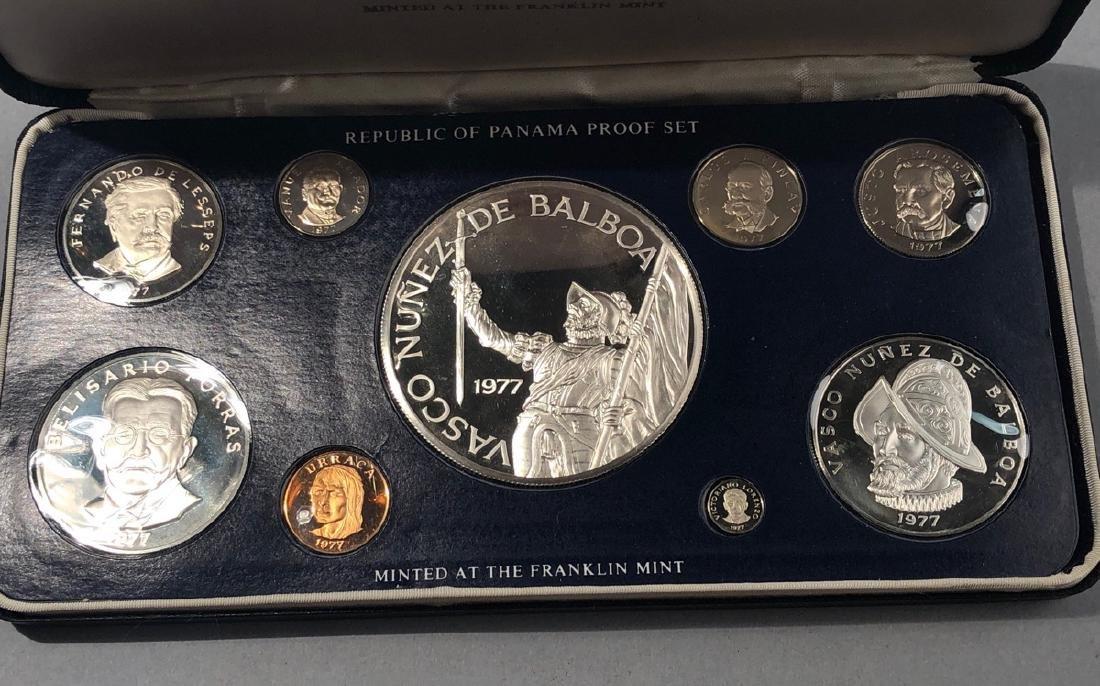 1977  Proof set Rep of Panama Balboa Proof. .925