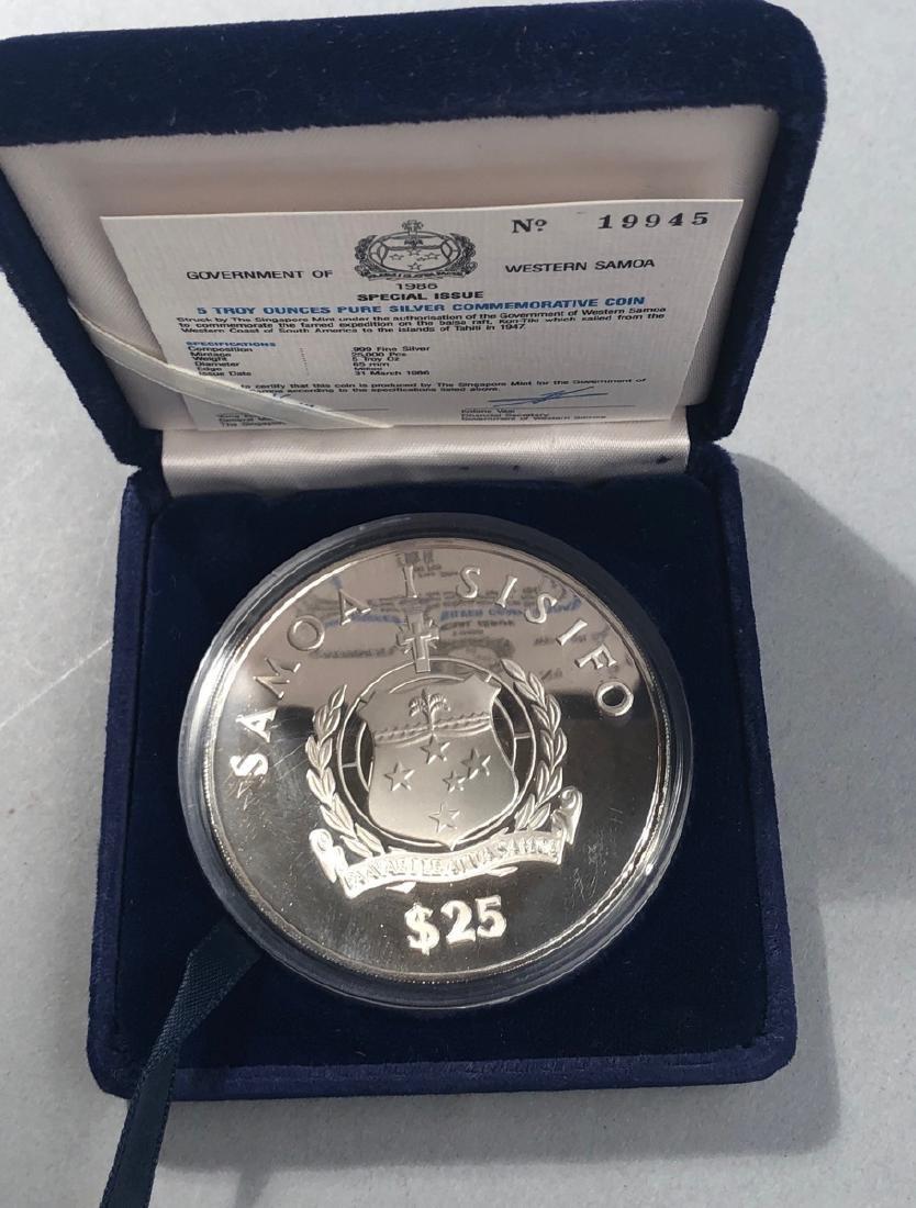 1986 Kon-Tiki 5 Troy Ounce .999 Silver - 3