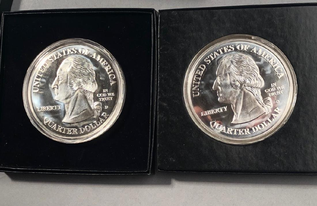 2 Giant Statehood Quarters 2000/2001 4 oz each