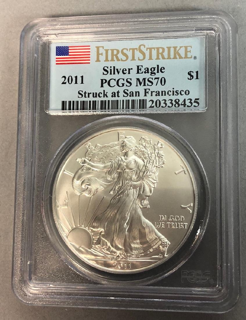 2011 First Strike Silver Eagle PCGS MS70 Struck a