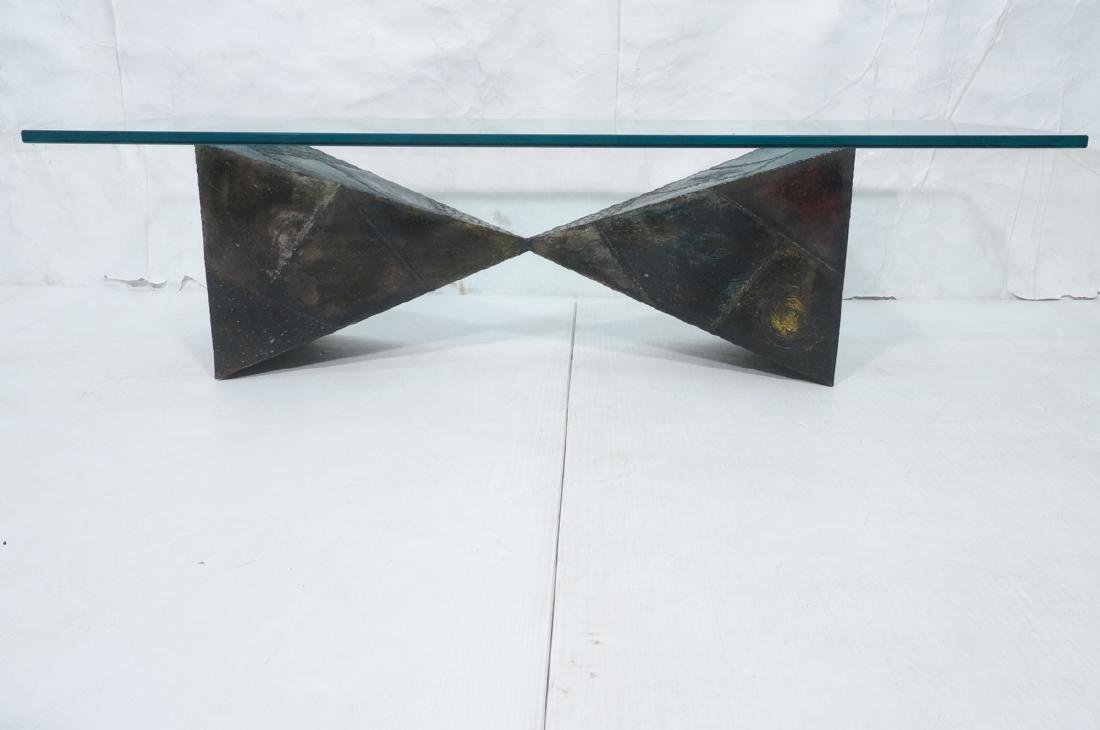 PAUL EVANS 67 Welded Steel Coffee Table. Modernis - 2