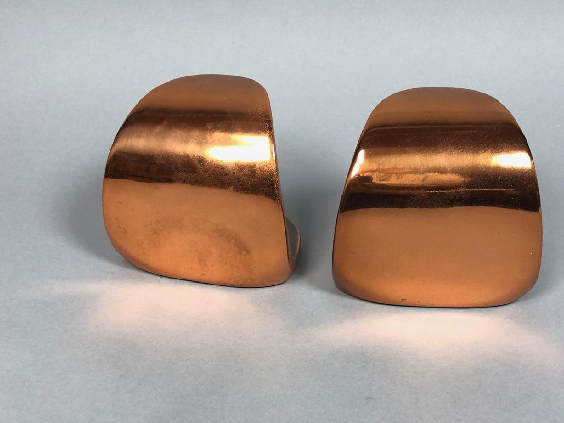 Pr Copper tone BEN SEIBERT Modernist Bookends. Sh - 4