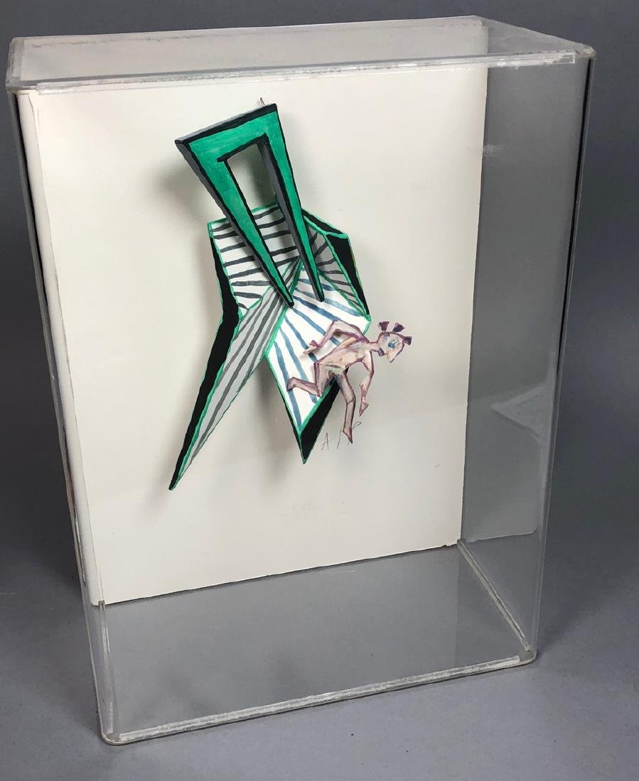 Signed RAPP 3D Modern Sculpture Custom Lucite Sha