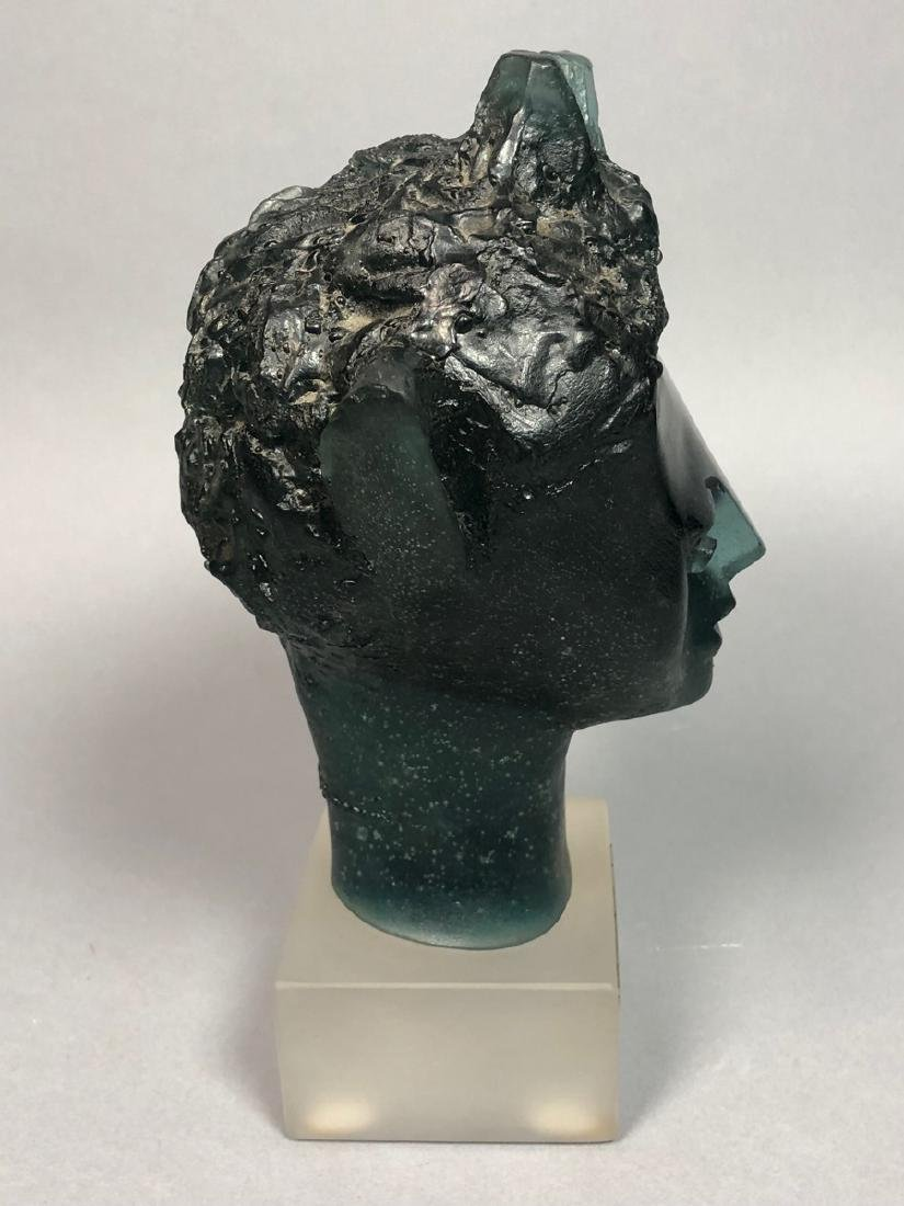 "DAUM French Crystal Faun Head. JP DEMARCHI ""Faune - 4"