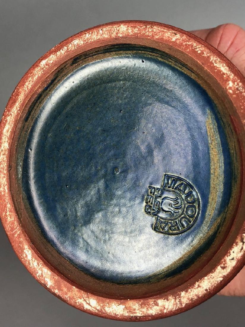 SUZANNE RAMIE Tall Blue Ceramic Vase. MADOURA. Mo - 4