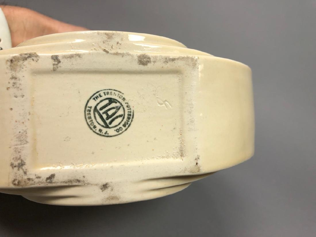 2pc Mid Century Modern Pottery Vases. 1) TRENTON - 5
