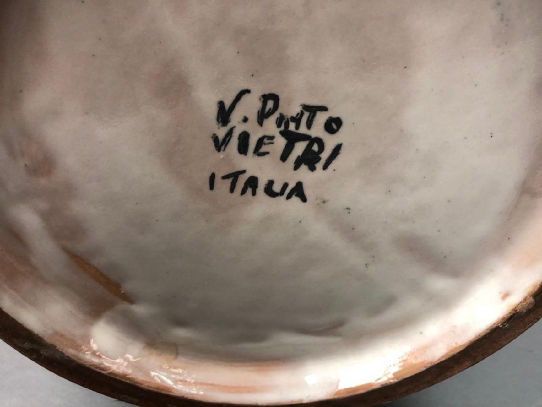 Lg V. PINTO VIETRI Italian Pottery Vase. Bulbous - 3