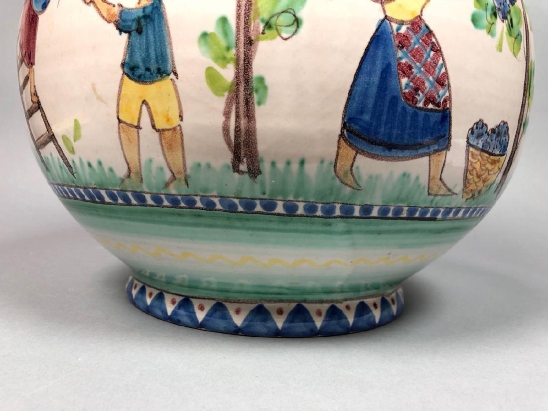 Lg V. PINTO VIETRI Italian Pottery Vase. Bulbous - 4