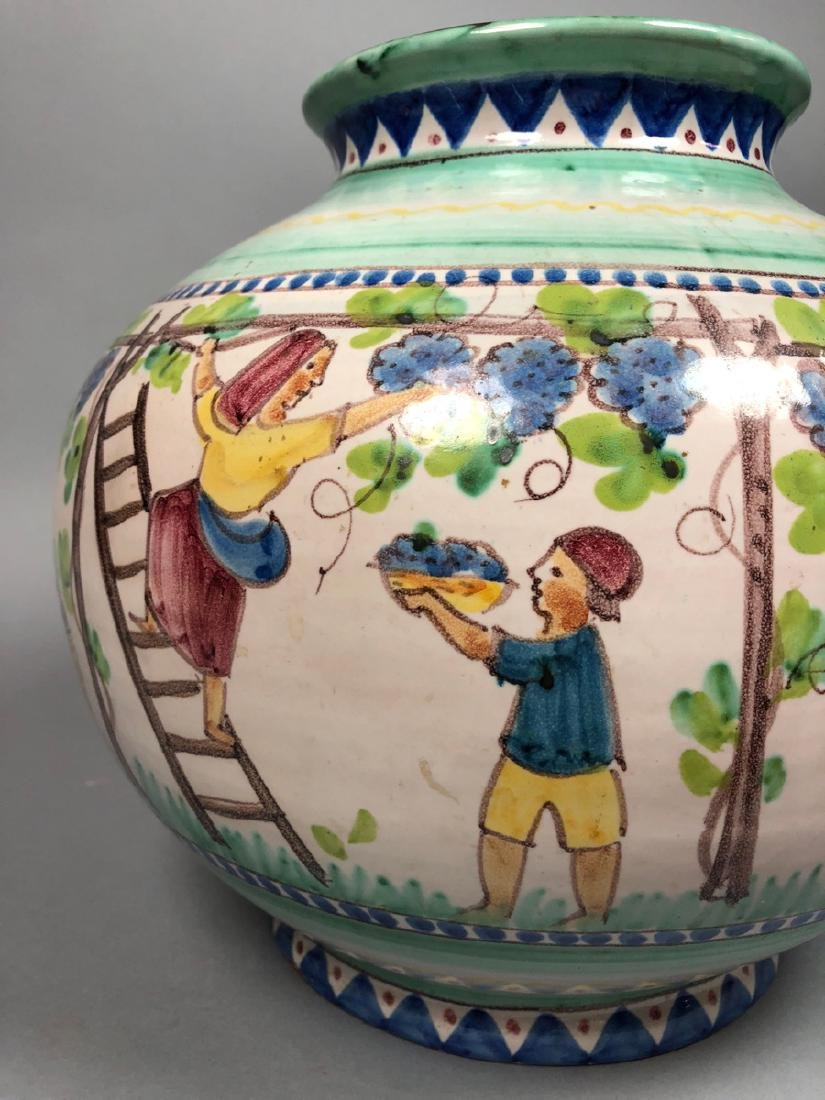 Lg V. PINTO VIETRI Italian Pottery Vase. Bulbous - 5