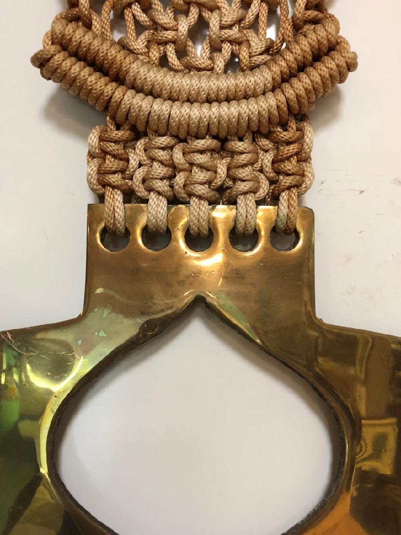 Fred Wiesener Modern Brass, Pottery, Macrame Wall - 6
