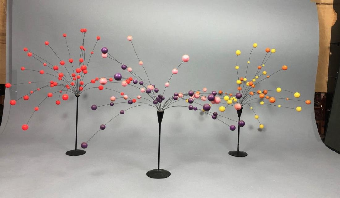 3 LAURIDS LONBORG Style Kinetic Ball Sculptures.