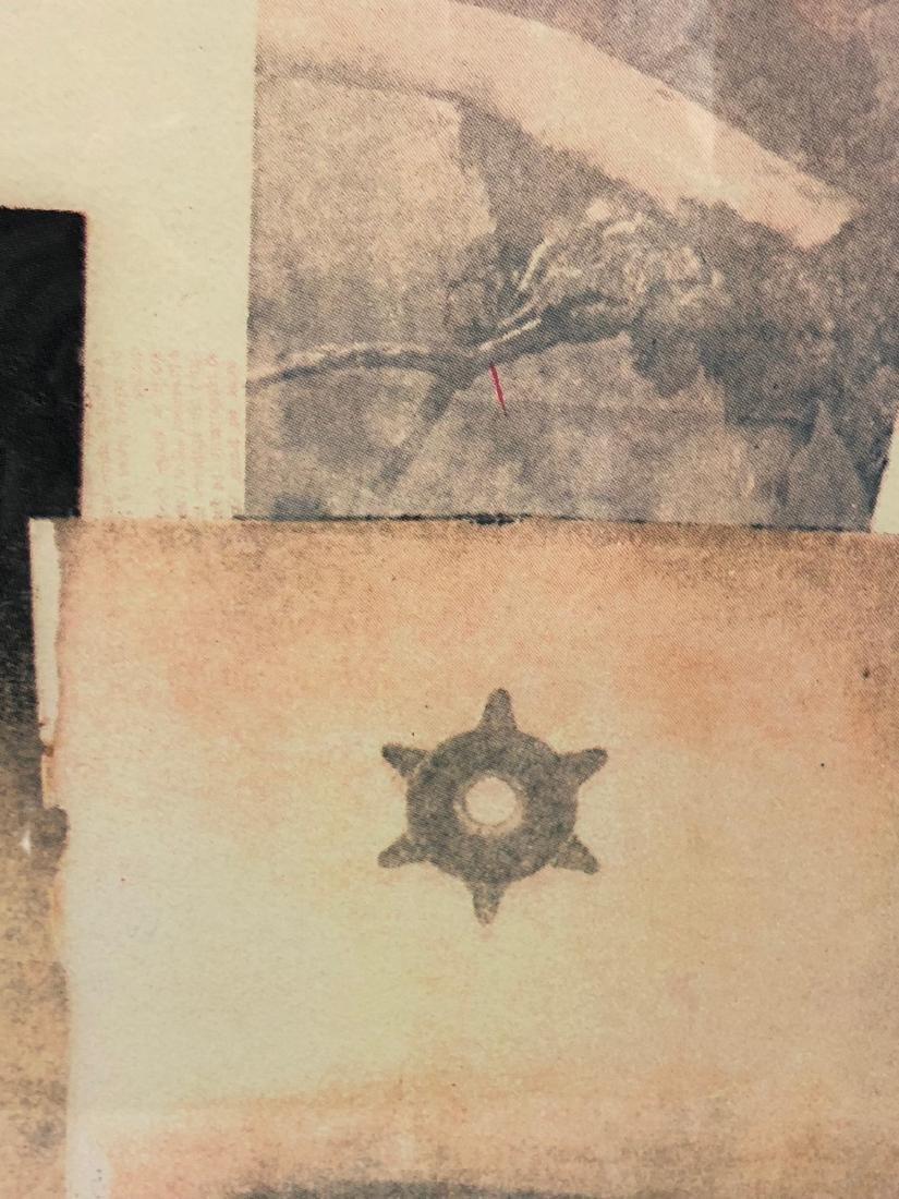 ROBERT RAUSCHENBERG Print. Photo Collage. Pencil - 3