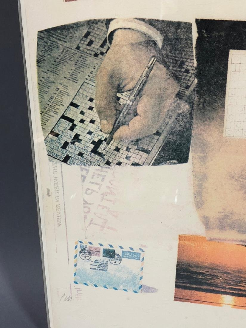 ROBERT RAUSCHENBERG Print. Photo Collage. Pencil - 5