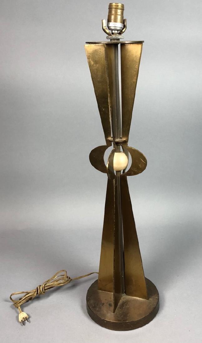 Modernist Designer Bronze Tall Table Lamp. 4 shap