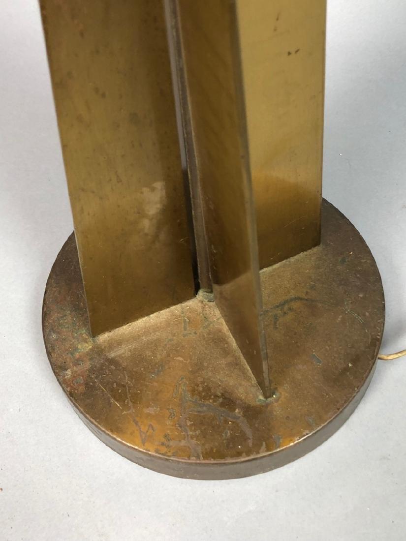 Modernist Designer Bronze Tall Table Lamp. 4 shap - 5