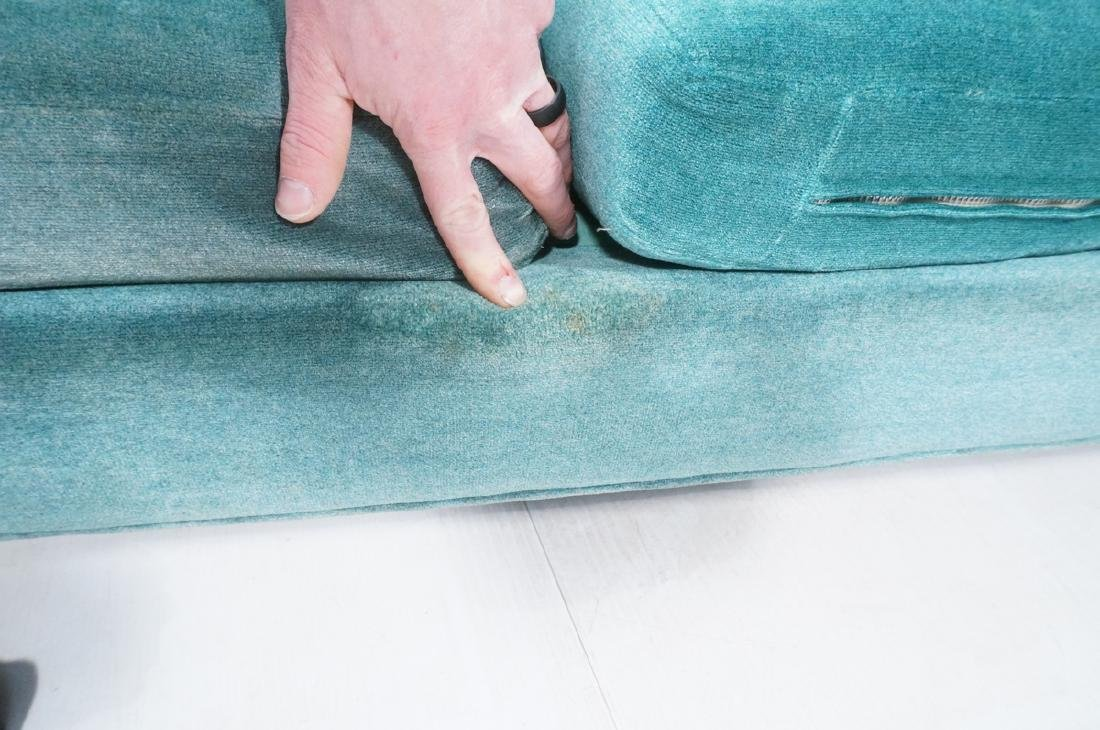 MILO BAUGHMAN Chrome Frame Modern Sofa. Teal gree - 9