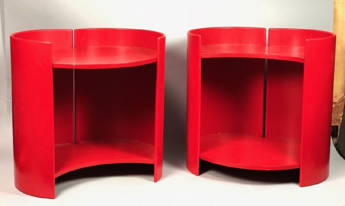 "Pr KUZAHIDE TAKAHAMA ""Gea"" Side Tables. Red anili"