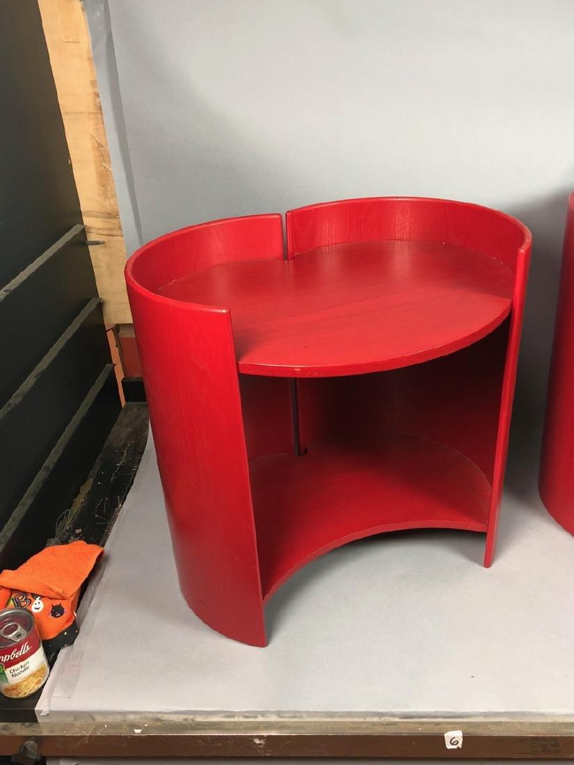 "Pr KUZAHIDE TAKAHAMA ""Gea"" Side Tables. Red anili - 2"