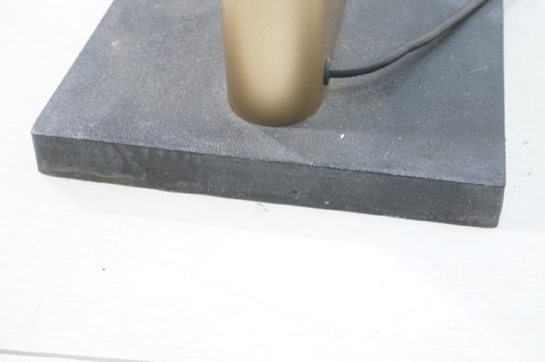Pr Tall Modernist Gold Aluminum Floor Lamps. Thin - 10