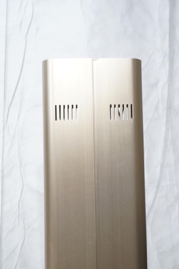 Pr Tall Modernist Gold Aluminum Floor Lamps. Thin - 3