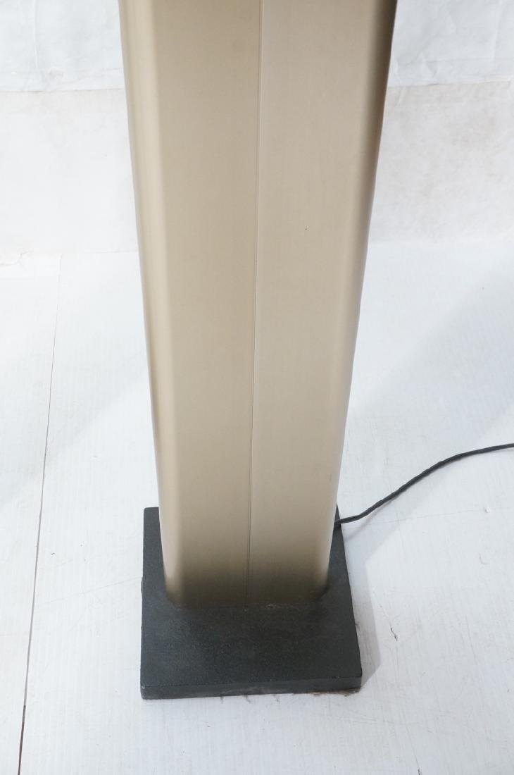 Pr Tall Modernist Gold Aluminum Floor Lamps. Thin - 4