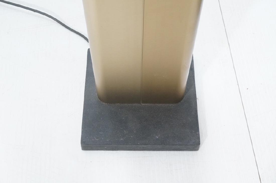 Pr Tall Modernist Gold Aluminum Floor Lamps. Thin - 6